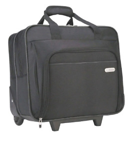Targus Black Rolling Laptop Bag Briefcase Travel Business