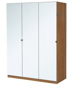 Triple Ikea wardrobe with front mirrors