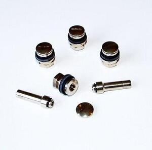 FLUSH FIT WHEEL TYRE VALVES + 2 Airline Adaptors