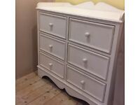 Bespoke chest of drawers w nappy changing surface