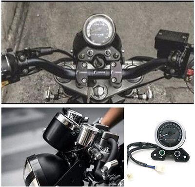 1X UNIVERAL WATERPROOF MOTORCYCLE BIKE ODOMETER SPEEDOMETER TACHOMETER