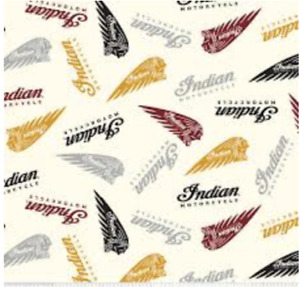 Quilt Fabric Indian Motorcycle and Supplies