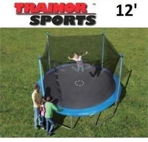 NEW* TRAINOR SPORTS TRAMPOLINE 12' 1235312US 200360285 ENCLOSED TRAMPOLINES Enclosure Combo JUMPING BOUNCER