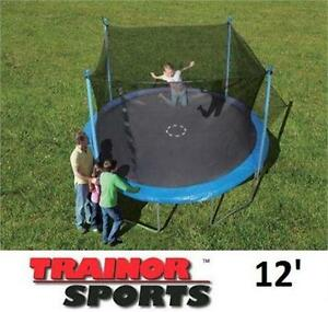 NEW TRAINOR SPORTS TRAMPOLINE 12' ENCLOSED - Trampoline and Enclosure Combo  BOUNCING JUMPING 79433583