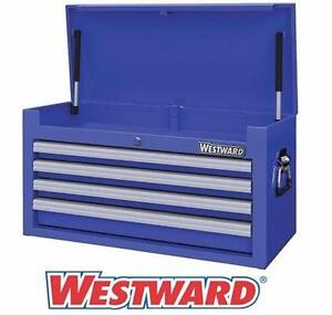 """NEW* WESTWARD 4 DRAWER TOOL CHEST 26"""" Top Chest, 4 Drawers, Blue - Hand Tools > Tool Storage  84809245"""