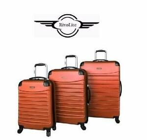 NEW 3PC CIAO SPINNER LUGGAGE SET   BRONZE - HARD-SIDE - SPINNER LUGGAGE VOYAGER SUITCASE TRAVEL BAGGAGE  96567133