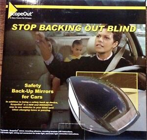 NEW SCOPEOUT SAFETY BACKUP MIRRORS FOR CARS