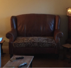 Dark Brown Leather Couch - Tapestry - Great Condition