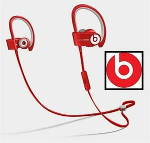 NEW POWERBEATS2 WIRELESS EARPHONES BEATS - RED - WIRELESS AUDIO CLIPS OVER EAR  83954513