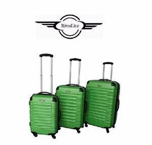 NEW RIVOLITE HARD SPINNER SET   RIVOLITE MILANO GREEN - LIGHTWEIGHT SUITCASE LUGGAGE  TRAVEL GEAR BAG  85197258