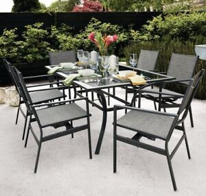 Patio backyard deck Dining set NEW UNOPENED SEALED table chairs