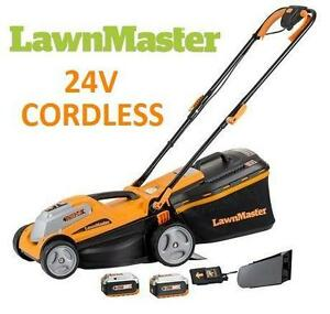 "NEW* LAWNMASTER 14"" 24V LAWN MOWER Outdoor Power Tools GRASS CUTTING"