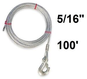 """NEW DAYTON WINCH CABLE 5/16""""x100' - 125644089"""