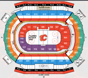 Tickets to Flames Home Opener and NYE $200