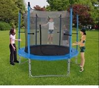 JumpTec 8ft trampoline with enclosure