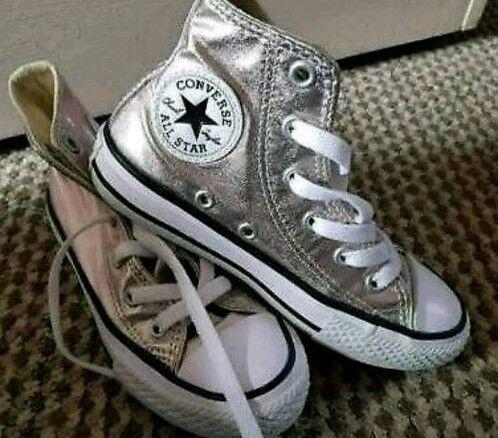 d543a0d86fdb Rose gold Converse boots. Girls size 11