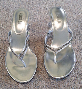 Silver Shoes with Rhinestones