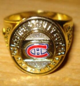 Montreal Canadiens NHL Stanley Cup Ring.