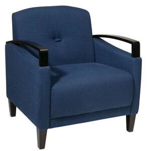 BRAND NEW Avenue Six Main Street Chair In Woven Indigo Fabric