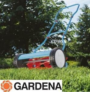 USED GARDENA HAND LAWNMOWER - 112932960 - CYLINDER Turquoise/Orange/Black