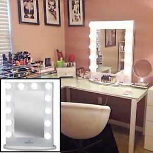 NEW* IMPRESSIONS VANITY MIRROR ICONIC XL WHT 142881811 HOLLYWOOD ICONIC XL W/ DIMMER FROSTED BULBS