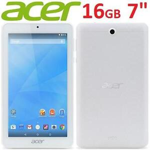 "NEW OB ACER ICONIA ONE 7 TABLET 7"" 16GB STORAGE WHITE ANDROID ELECTRONICS QUAD CORE NEW OPEN BOX 102038608"