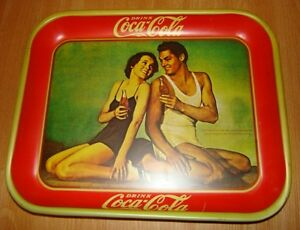 antique tray cabaret coca cola special de tarzan et jane