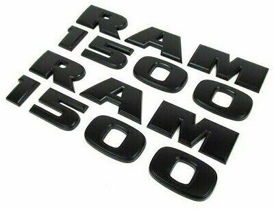 2 BLACK RAM 1500 DOOR BADGE  LETTER RAM1500 2010 2011 2012 2013 2014 nameplate