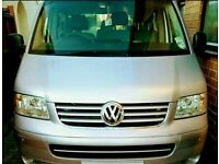 REDUCED TO SELL VW TRANSPORTER T5 SHUTTLE MPV M1 9 SEATER ONLY £3900