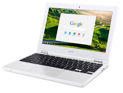 "Acer Chromebook 11.6"" Intel Celeron 4GB -C8GZ 16GB SSD N 2.58GHz White Y/17 New"
