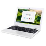 """Acer Chromebook 11.6"""" Intel Celeron 4GB -C8GZ 16GB SSD N 2.58GHz White Y/17 New"""