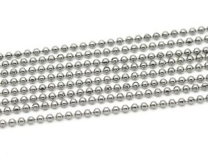 10 metres of Stainless steel ball chain bead chain & 40 joiner connectors 2.4 mm