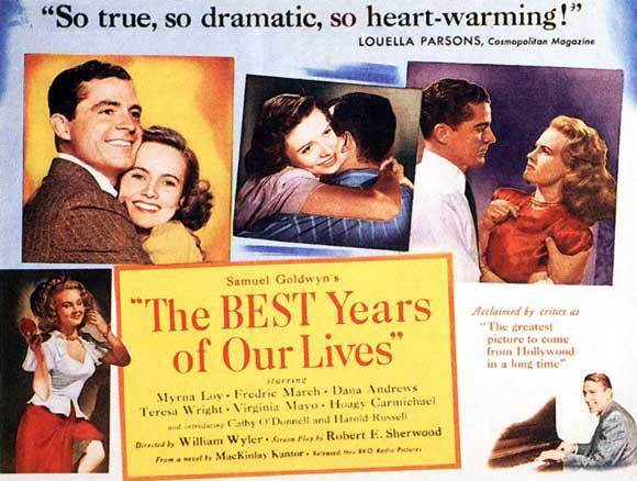 THE BEST YEARS OF OUR LIVES Movie POSTER 22x28 Half Sheet Fredric March Myrna