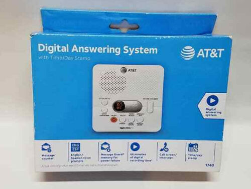 NEW AT&T 1740 Digital Answering System with 60 Minute Recording Time