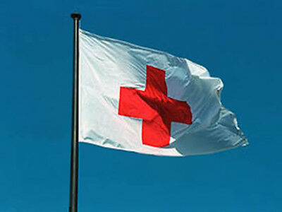 Sewn Red Cross Medical Ambulance Flag SolarMax Nylon (Red Solarmax Nylon)
