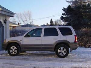 2001 Mazda Tribute white with grey trim SUV
