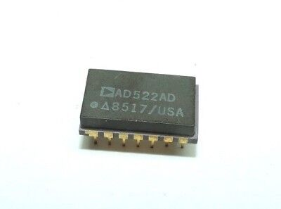 Ad Ad522ad Analog Devices Ceramic Gold Plated Pins New Old Stock