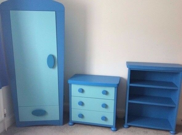 Childrens Kids Bedroom Furniture Set Toy Chest Boxes Ikea: Ikea Kids Bedroom Furniture. Blue Mammut. Wardrobe