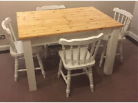 Farmhouse table and four chairs