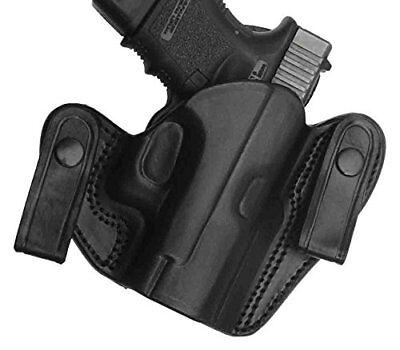Beretta Nano Dual Snap IWB Leather Hip Holster, Black, Right Hand Gun Handgun