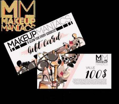 Makeup Maniacs Gift Card - $10.00