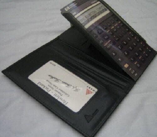 Leather Calculator Case all HP Pioneer Series NIB  Black