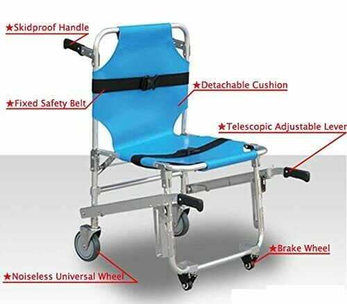 Medical Light Weight Stair Stretcher Health Care Wheel Chair Emergency Equipment