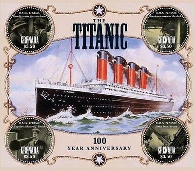 Grenada 2012 - R.M.S. 100th Anniversary Titanic - Sheet of 4 MNH