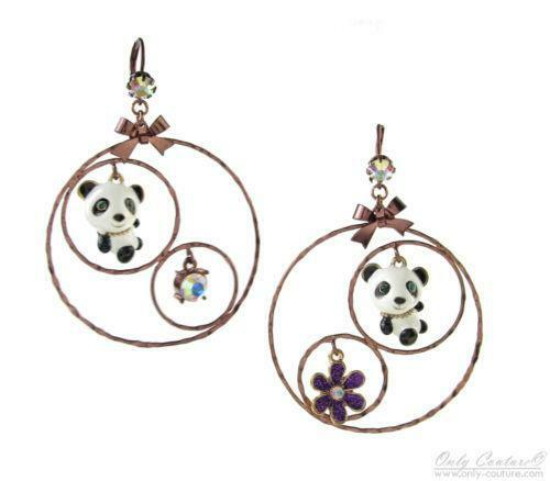 Betsey Johnson Panda Earrings Ebay