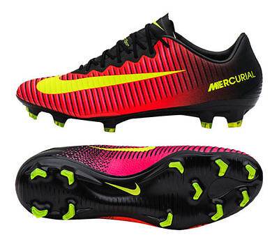 New Nike Mercurial Vapor XI ACC FG Soccer Cleats Sz 9.5 Crimson Black 831958-870