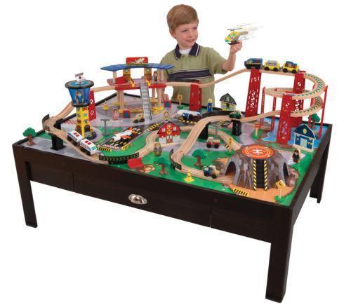 Kidkraft Wooden Train Set Ebay