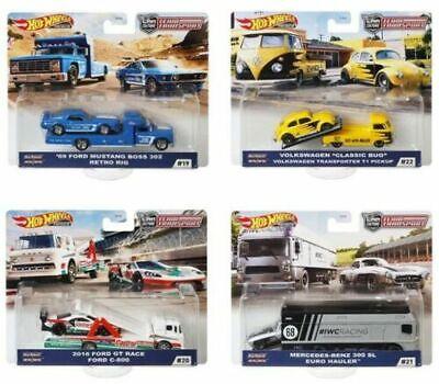 Hot Wheels 2020 Car Culture Team Transport Case H Set of 4 Trucks FLF56-956H