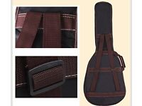 GamutTek 41 inches guitar case with leather cover and Adjustable Double Shoulder