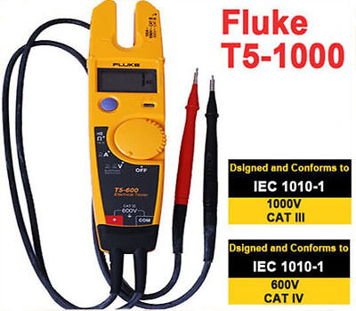 New Fluke T5-1000 1000 Voltage Current Electrical Tester New Fluke T5-1000 1000